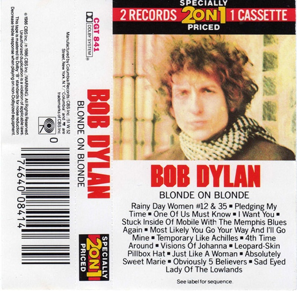 Bob Dylan - Blonde On Blonde cassette