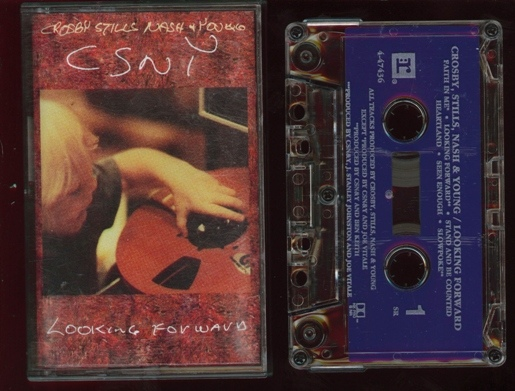 crosby stills nash and young looking forward cassette