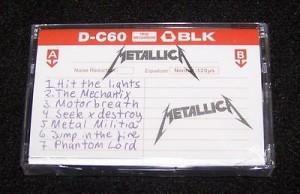 Metallica Record Store Day cassette release