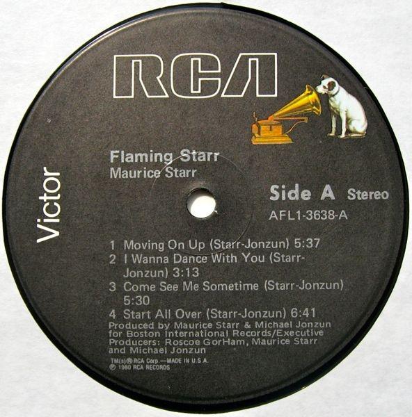 Maurice Starr vinyl cassette