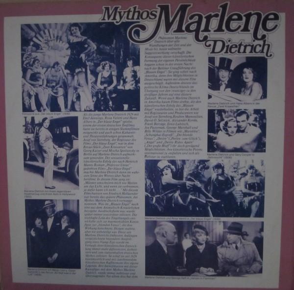 Marlene Dietrich vinyl cassette