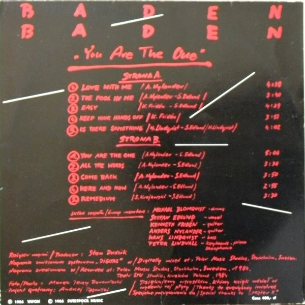 Baden Baden vinyl cassette