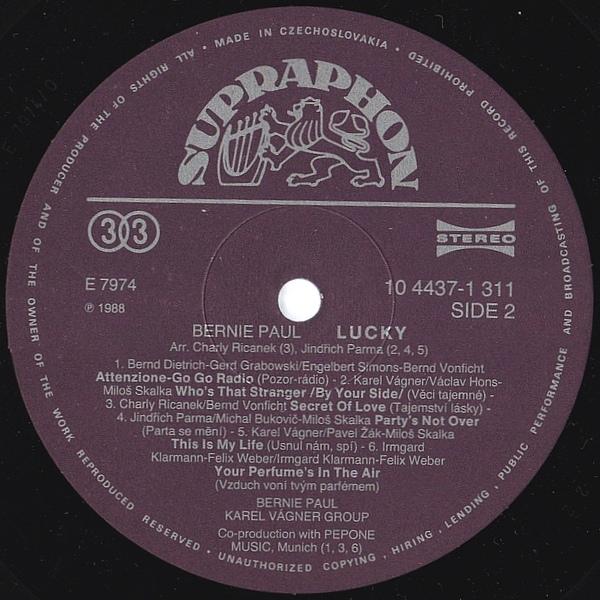 Bernie Paul vinyl cassette