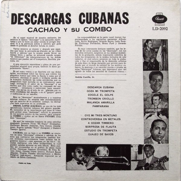 Cachao Y Su Combo vinyl cassette
