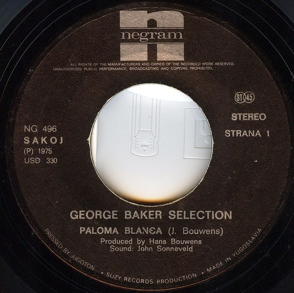 george baker vinyl cassette