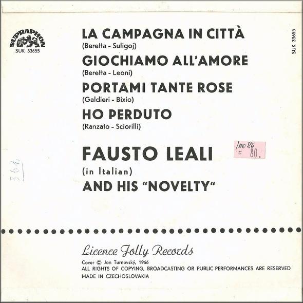 Fausto Leali vinyl cassette