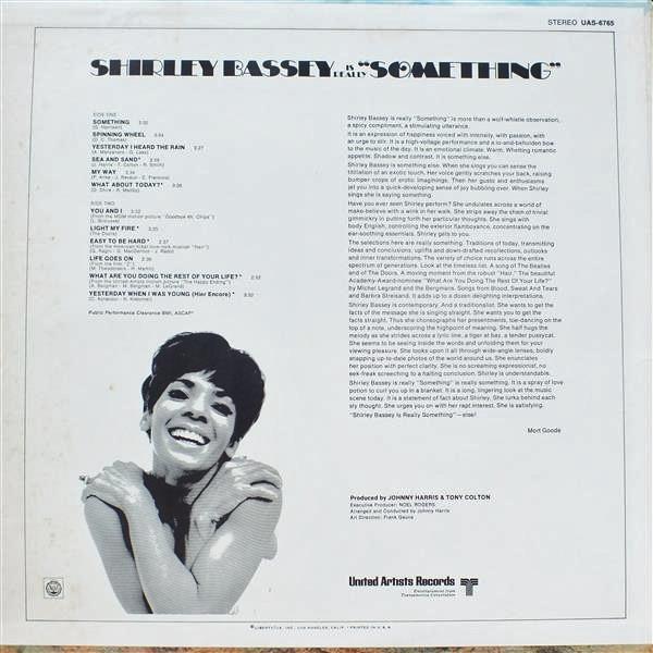 Shirley Bassey vinyl