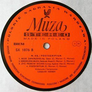 Czesław Niemen – Postscriptum vinyl