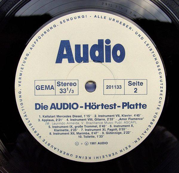 Die Audio Hörtest Platte