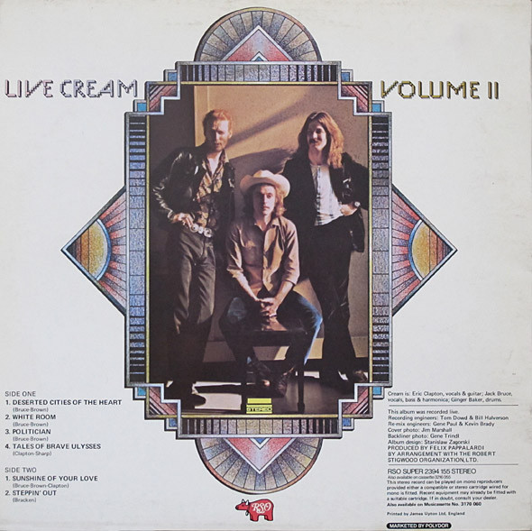Cream ‎– Live Cream Volume II