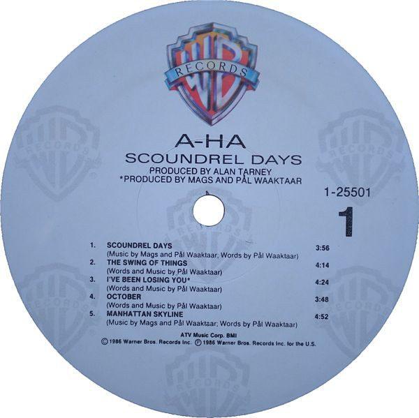 a-ha – Scoundrel Days